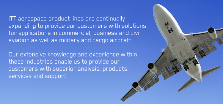 Components for Aircraft Fuel, Hydraulic, ECS and Water Systems | ITT